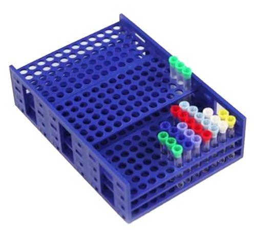HS Single Mega Rack for 10-13mm Tubes - 216 Tubes Capacity - Blue