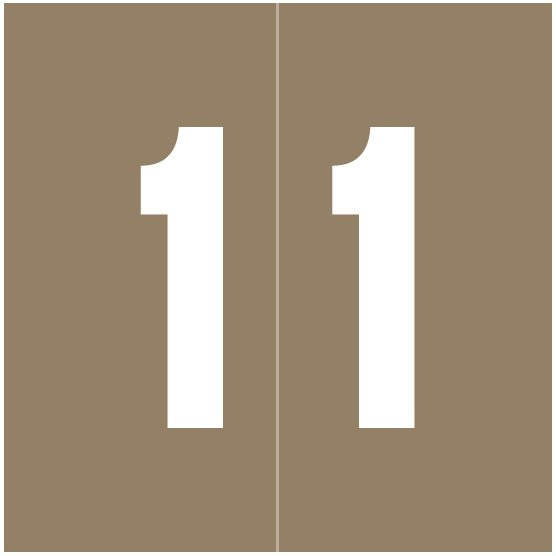 IFC #CL2100 Match System #1 IFNP Series Numeric Roll Labels - Number 1 - Gray