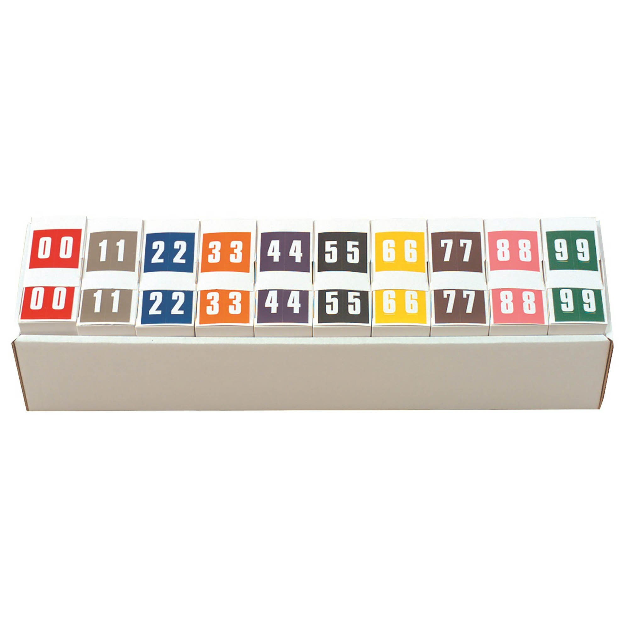 IFC #CL2100 Match System #1 IFNP Series Numeric Roll Labels - Set of Number 0 To 9