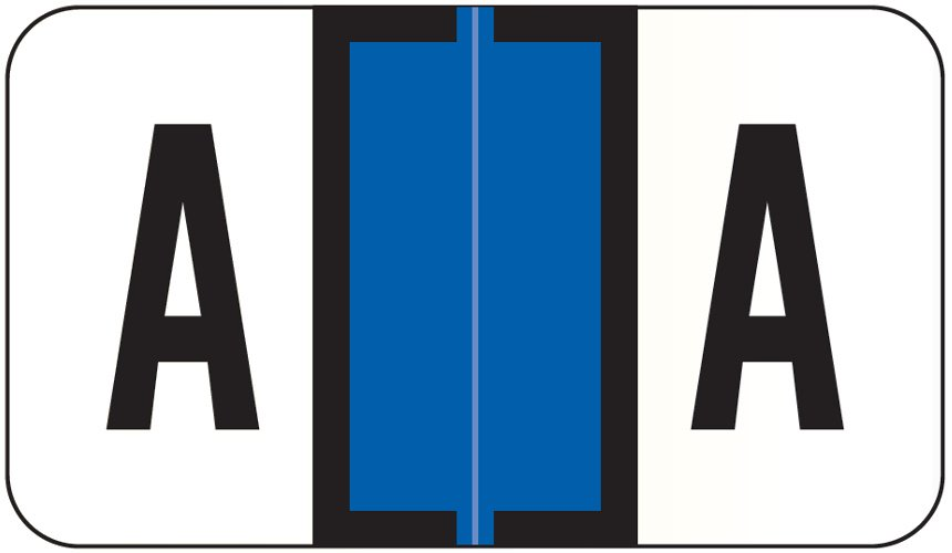Jeter 0200 Match JAAM Series Alpha Roll Labels - Letter A - Dark Blue