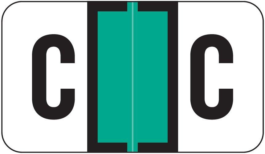 Jeter 0200 Match JAAM Series Alpha Roll Labels - Letter C - Light Green