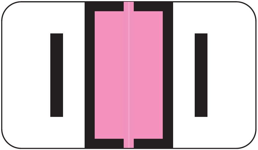 Jeter 0200 Match JAAM Series Alpha Roll Labels - Letter I - Pink