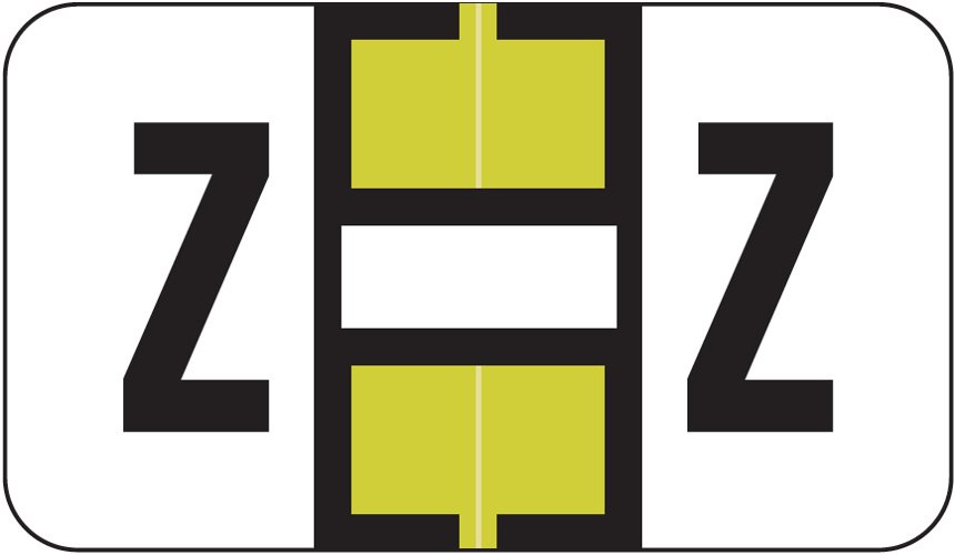 Jeter 0200 Match JAAM Series Alpha Roll Labels - Letter Z - Gold and White