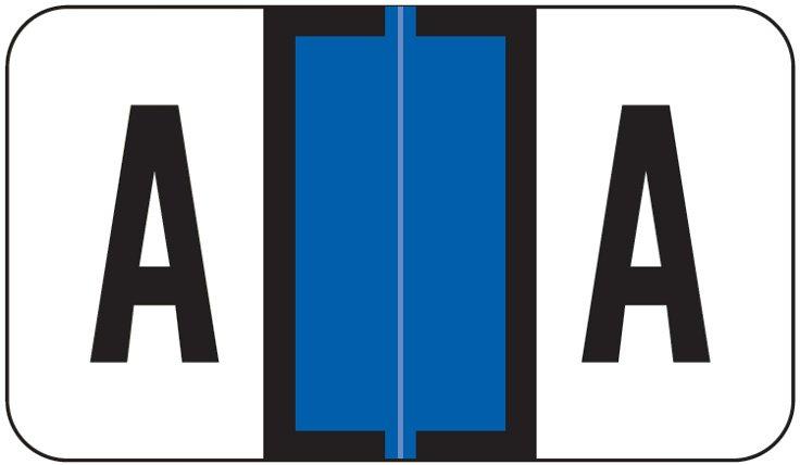 Jeter 2800 Match JEAM Series Alpha Roll Labels - Letter A - Dark Blue