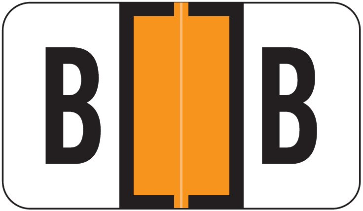 Jeter 2800 Match JEAM Series Alpha Roll Labels - Letter B - Orange