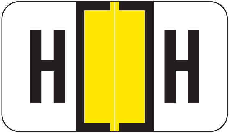 Jeter 2800 Match JEAM Series Alpha Roll Labels - Letter H - Yellow