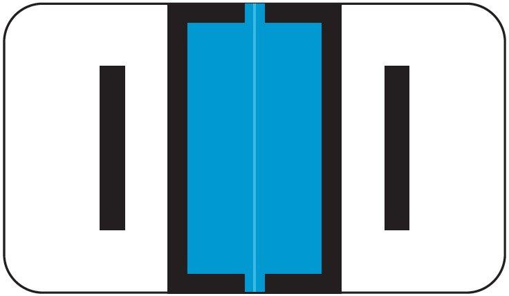 Jeter 2800 Match JEAM Series Alpha Roll Labels - Letter I - Light Blue