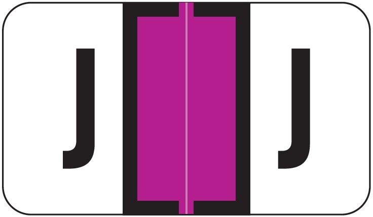 Jeter 2800 Match JEAM Series Alpha Roll Labels - Letter J - Purple