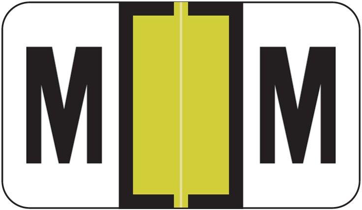 Jeter 2800 Match JEAM Series Alpha Roll Labels - Letter M - Gold