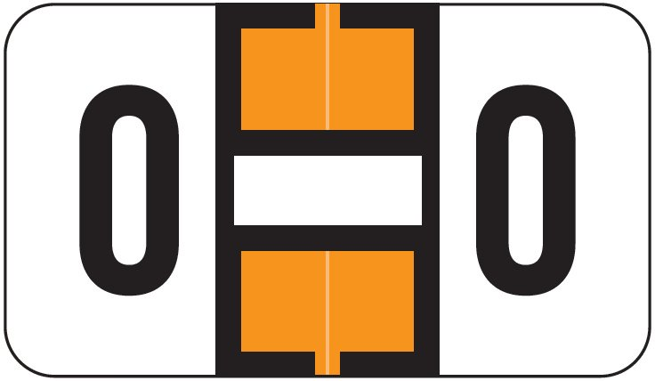 Jeter 2800 Match JEAM Series Alpha Roll Labels - Letter O - Orange and White