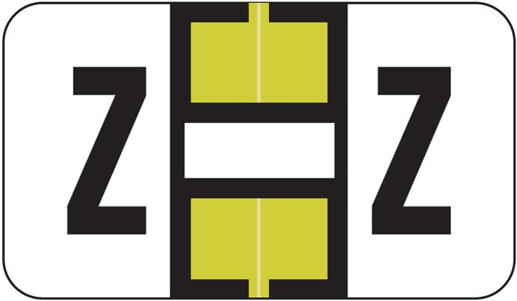 Jeter 2800 Match JEAM Series Alpha Roll Labels - Letter Z - Gold and White