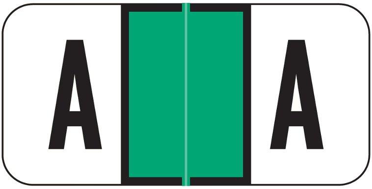 Jeter 2900 Match JSAM Series Alpha Roll Labels - Letter A - Light Green