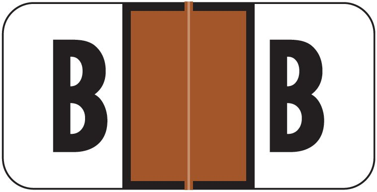 Jeter 2900 Match JSAM Series Alpha Roll Labels - Letter B - Brown