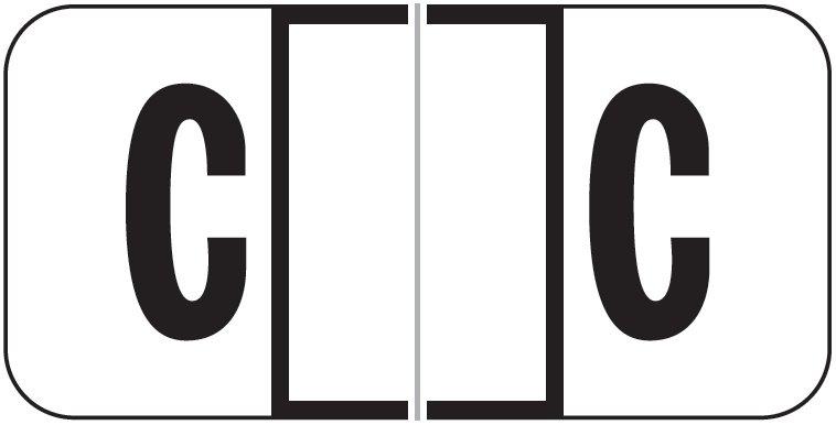 Jeter 2900 Match JSAM Series Alpha Roll Labels - Letter C - White