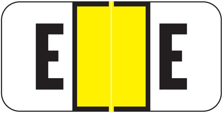 Jeter 2900 Match JSAM Series Alpha Roll Labels - Letter E - Yellow