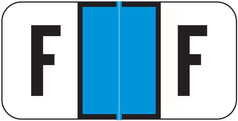 Jeter 2900 Match JSAM Series Alpha Roll Labels - Letter F - Light Blue