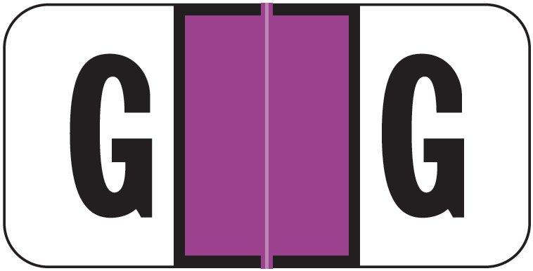 Jeter 2900 Match JSAM Series Alpha Roll Labels - Letter G - Purple