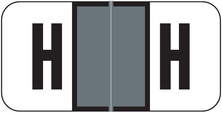 Jeter 2900 Match JSAM Series Alpha Roll Labels - Letter H - Gray