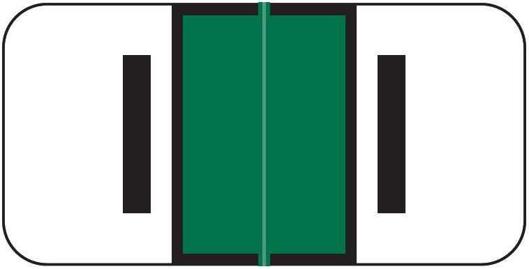 Jeter 2900 Match JSAM Series Alpha Roll Labels - Letter I - Dark Green