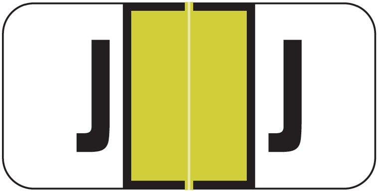 Jeter 2900 Match JSAM Series Alpha Roll Labels - Letter J - Gold
