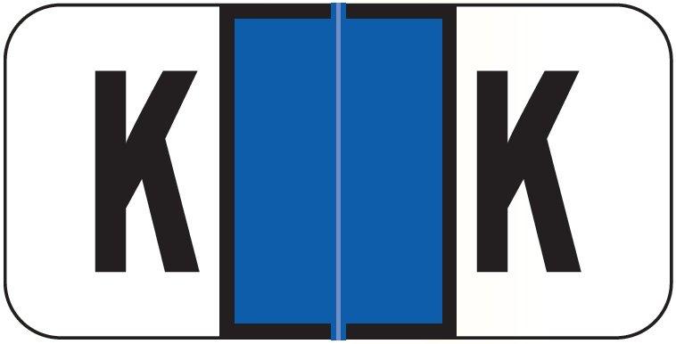 Jeter 2900 Match JSAM Series Alpha Roll Labels - Letter K - Dark Blue