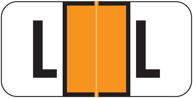 Jeter 2900 Match JSAM Series Alpha Roll Labels - Letter L - Orange