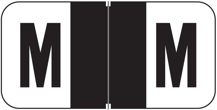 Jeter 2900 Match JSAM Series Alpha Roll Labels - Letter M - Black
