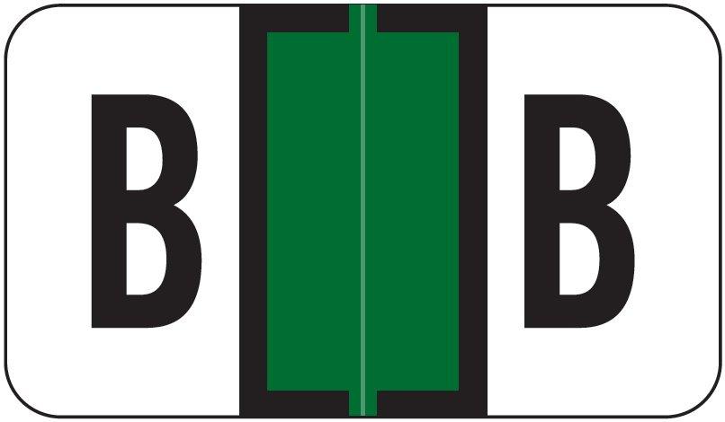 Jeter 5800 Match JT3R Series Alpha Sheet Labels - Letter B - Dark Green