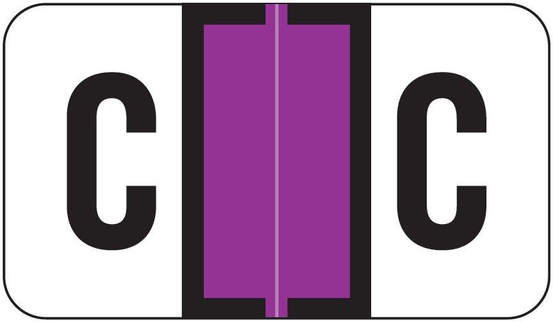 Jeter 5800 Match JT3R Series Alpha Sheet Labels - Letter C - Purple