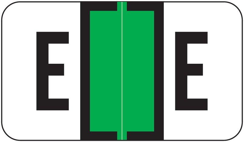 Jeter 5800 Match JT3R Series Alpha Sheet Labels - Letter E - Light Green