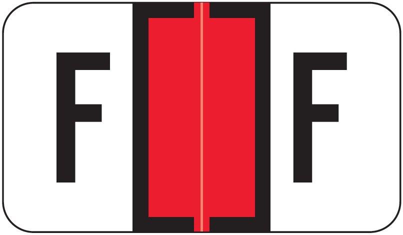 Jeter 5800 Match JT3R Series Alpha Sheet Labels - Letter F - Red