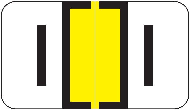 Jeter 5800 Match JT3R Series Alpha Sheet Labels - Letter I - Yellow
