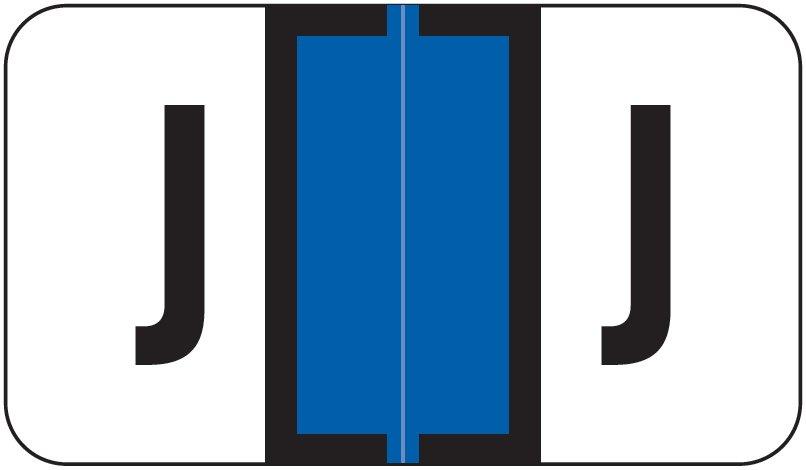 Jeter 5800 Match JT3R Series Alpha Sheet Labels - Letter J - Dark Blue