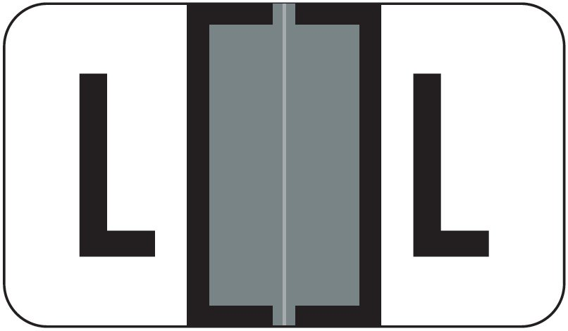 Jeter 5800 Match JT3R Series Alpha Sheet Labels - Letter L - Gray