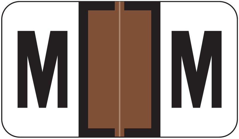 Jeter 5800 Match JT3R Series Alpha Sheet Labels - Letter M - Brown