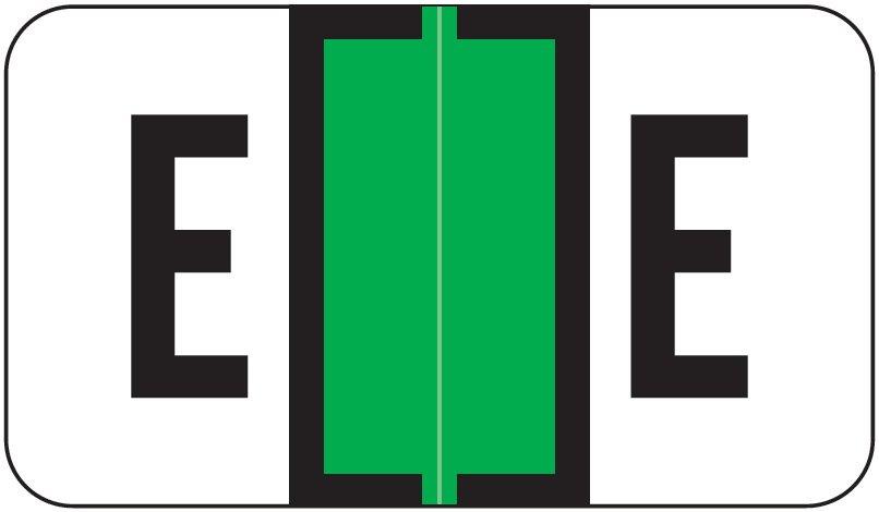 Jeter 7200 Match JTAM Series Alpha Roll Labels - Letter E - Light Green