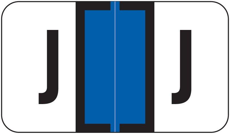 Jeter 7200 Match JTAM Series Alpha Roll Labels - Letter J - Dark Blue
