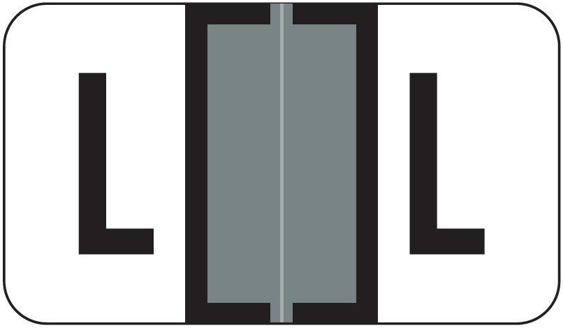 Jeter 7200 Match JTAM Series Alpha Roll Labels - Letter L - Gray