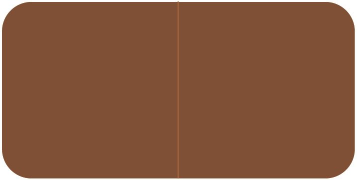 Jeter 9500 Match JTLM Series Solid Color Roll Labels - Brown