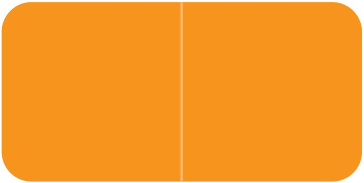 Jeter 9500 Match JTLM Series Solid Color Roll Labels - Orange