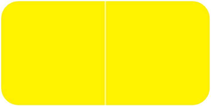 Jeter 9500 Match JTLM Series Solid Color Roll Labels - Yellow