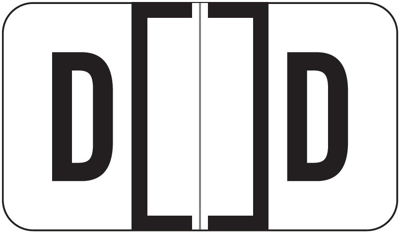 Jeter 7100 Match JTPK Series Alpha Sheet Labels - Letter D - White