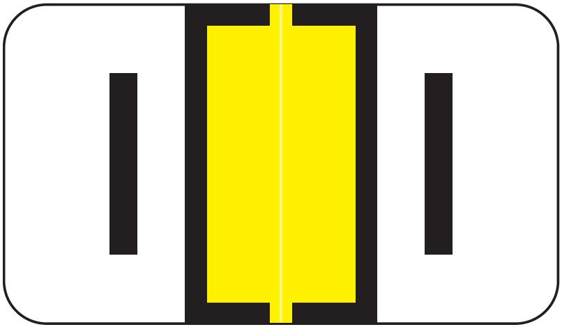 Jeter 7100 Match JTPK Series Alpha Sheet Labels - Letter I - Yellow