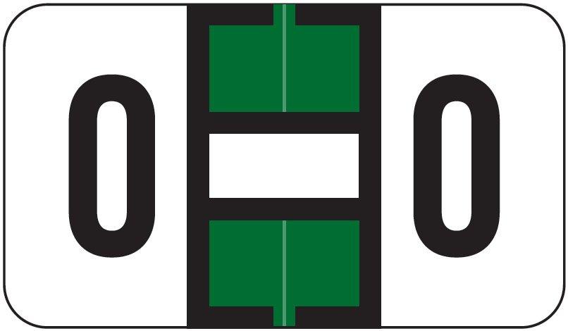 Jeter 7100 Match JTPK Series Alpha Sheet Labels - Letter O - Dark Green and White