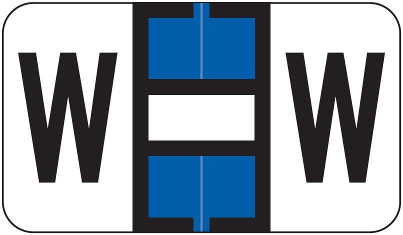 Jeter 7100 Match JTPK Series Alpha Sheet Labels - Letter W - Dark  Blue and White