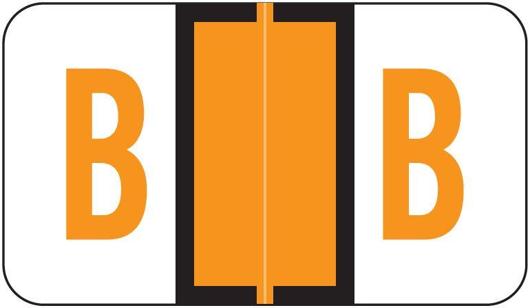 Jeter 5190 Match JXAM Series Alpha Roll Labels - Letter B - Light Orange