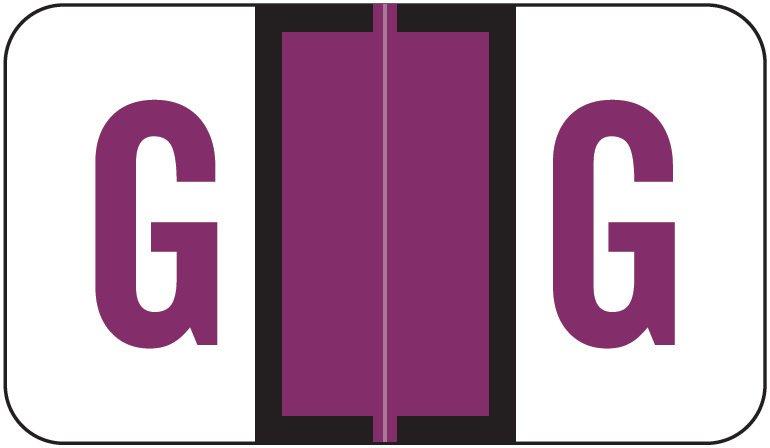 Jeter 5190 Match JXAM Series Alpha Roll Labels - Letter G - Purple
