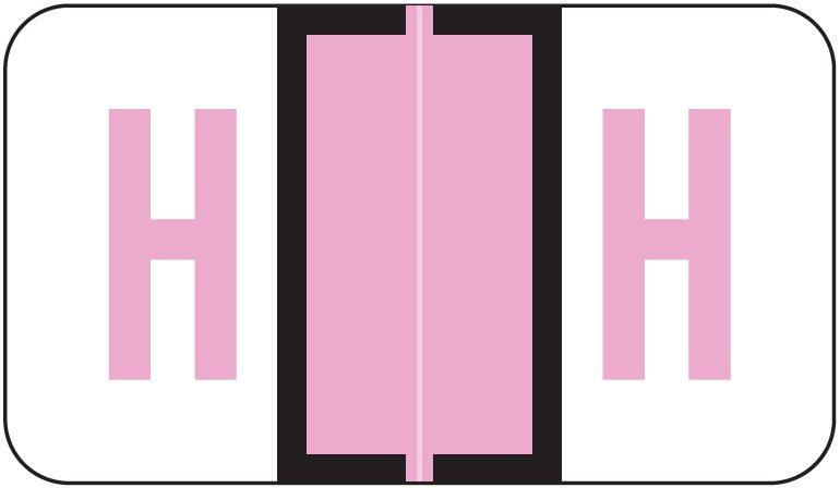 Jeter 5190 Match JXAM Series Alpha Roll Labels - Letter H - Lavender