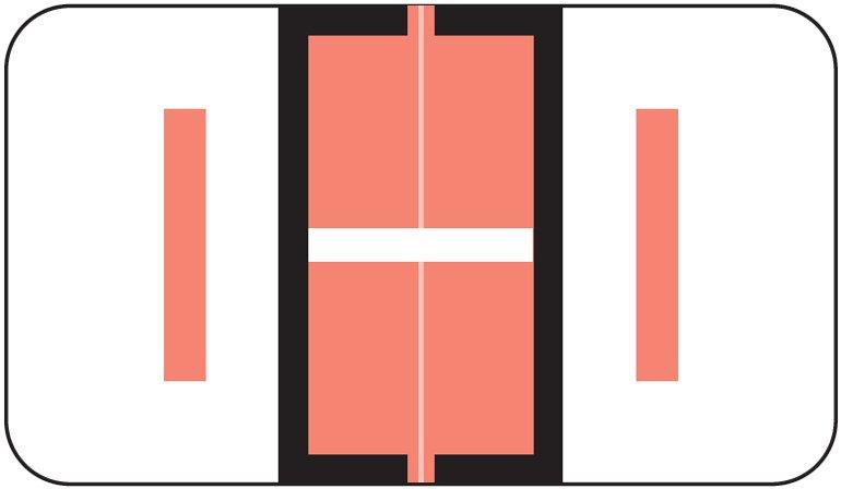 Jeter 5190 Match JXAM Series Alpha Roll Labels - Letter I - Pink