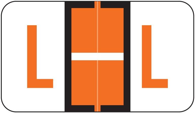 Jeter 5190 Match JXAM Series Alpha Roll Labels - Letter L - Dark Orange